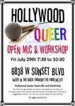 Hollywood Queer Open Mic & Workshop