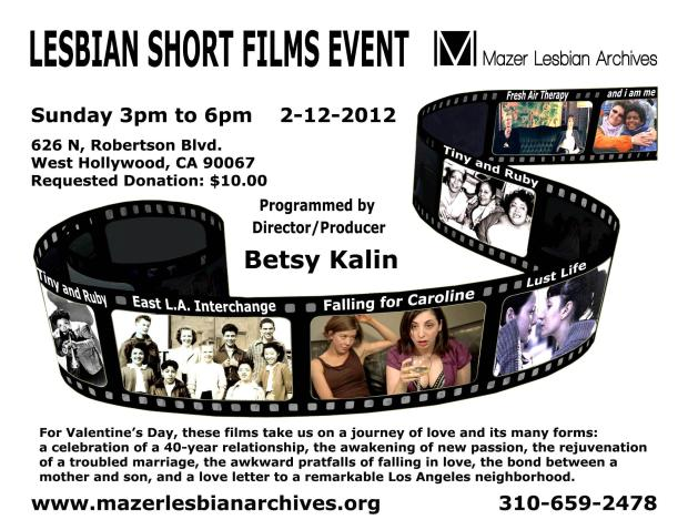 Mazer Lesbian Archives Film Screening
