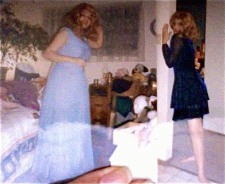 "Ofelia del Corazon (1994) When I was thirteen I went to stay for a week with my boyfriend's uncle Mark Souza, he was a real estate agent and fabulous drag queen. That summer I learned how beautiful being queer could be and that I wasn't doomed to a life of pain and loneliness… And that if I waited patiently I could have a life like his… full of love and sex, art, dress up costumes, dinner parties, brunches and sequin ball gowns!  Mark dressed me up in his gorgeous beaded dresses, giant wigs and big gaudy jewelry and taught me how to use the $25 silver Guerlain liquid eye liner I'd bought with money from my first job. Mark said I was like his own personal Barbie Doll (his walls were covered with them) and I beamed with pleasure--if I was his doll then he was my queer fairy Godmother. Thank you Uncle Mark for showing me how to live a life to be proud of--before there were ""It gets better"" videos and gay straight alliances in high schools I had you."