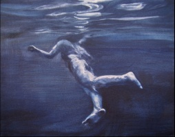 Underwater Swimmer By Patsy McArthur (oil)