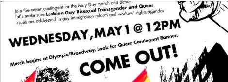 May Day 2013 Queer Contingent Flyer